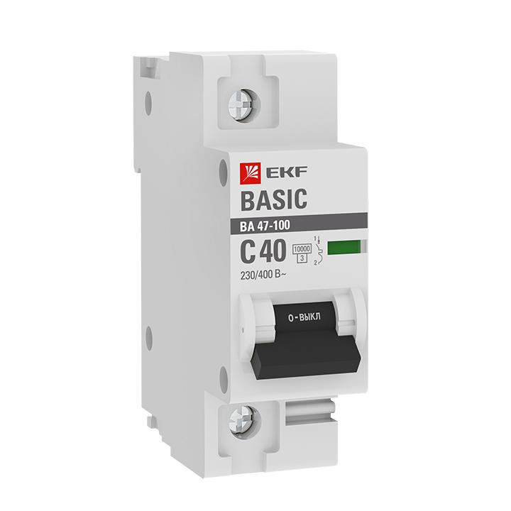 Автоматические выключатели ВА 47-100   1Р