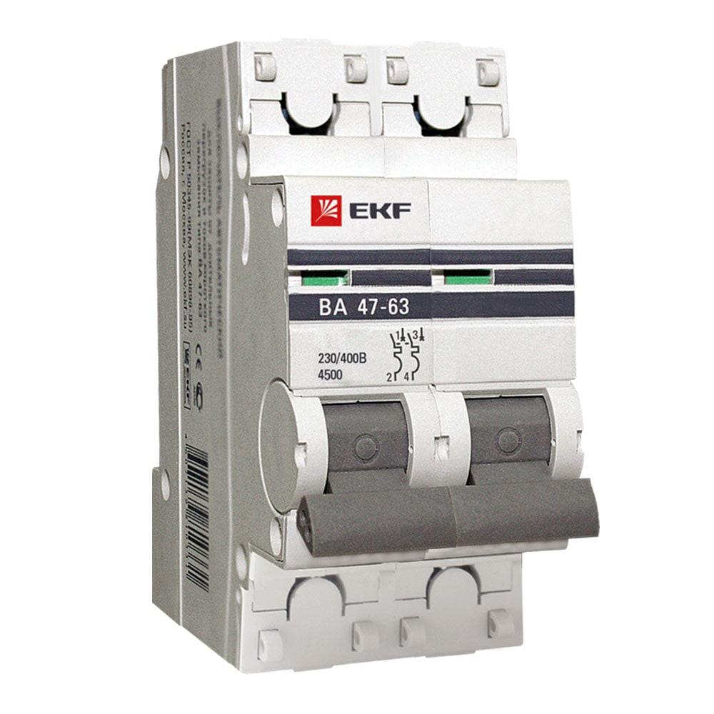 Автоматические выключатели ВА 47-63   2Р