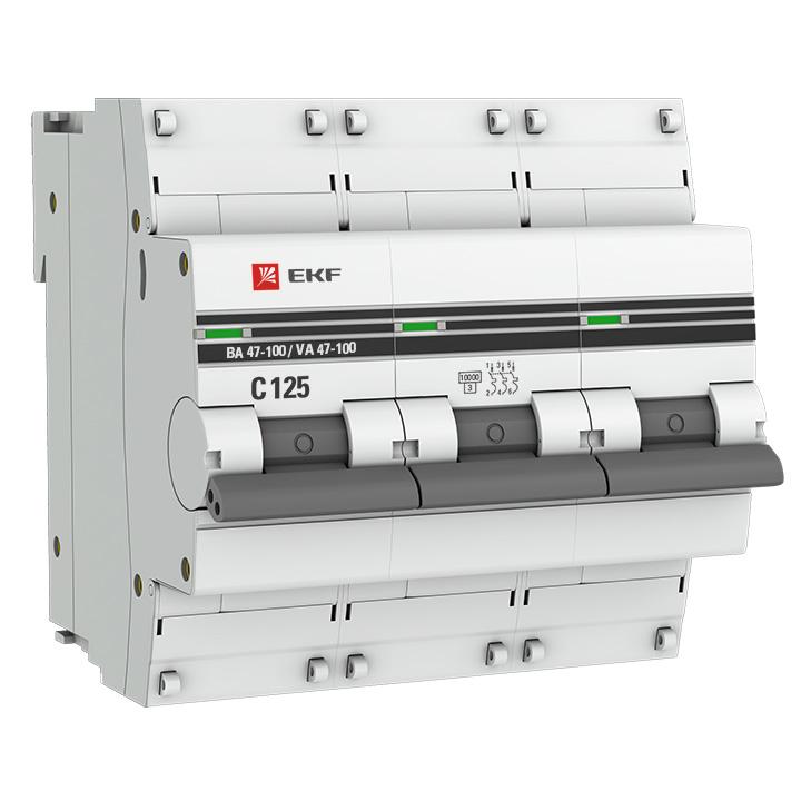 Автоматические выключатели ВА 47-100   3Р