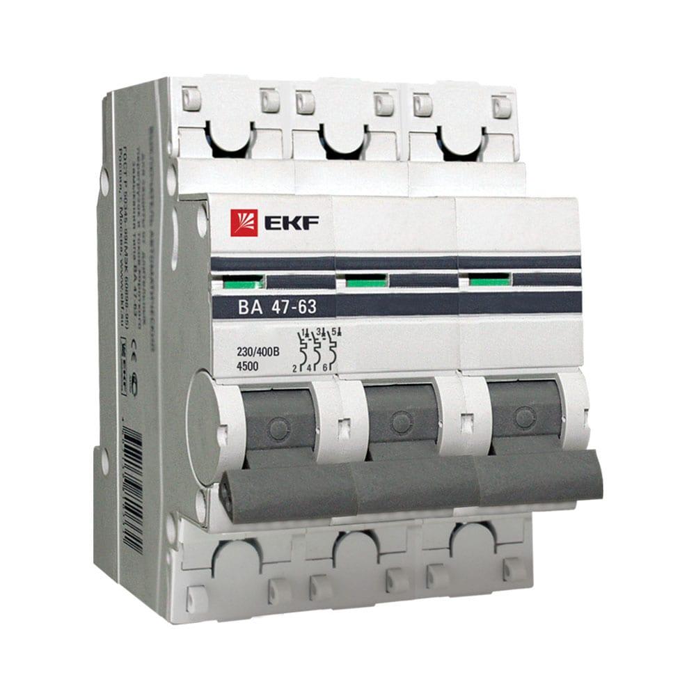 Автоматические выключатели ВА 47-63   3Р